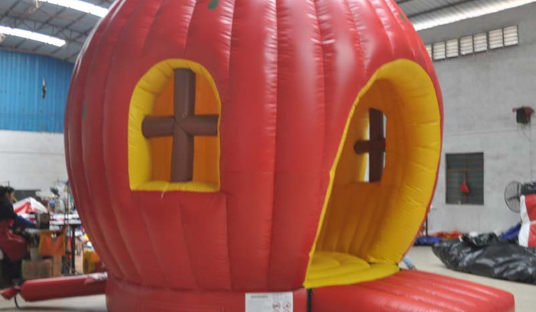 Giant Apple Jumping Castle